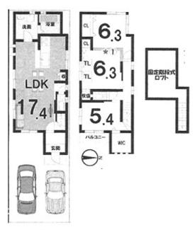 参考建物プランC 86.35平米。