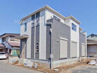 千葉市花見川区浪花町 新築一戸建 外観施工例です。