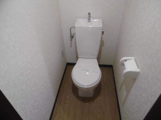 落ち着いた色調のトイレです(同物件別室写真です)