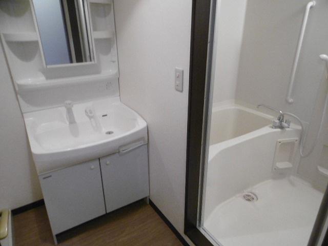 広い洗面スペース(同物件別室写真です)
