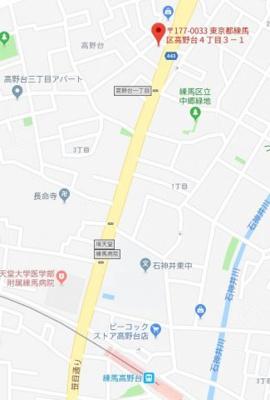 【地図】ルクレ高野台レジデンス