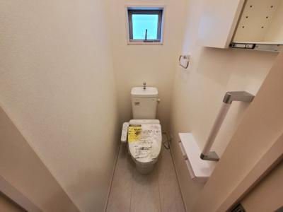 【トイレ】土浦市荒川沖東2期 新築戸建 1号棟