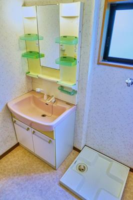 独立洗面 洗濯機置き場