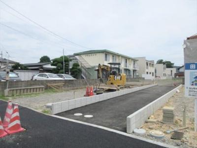 【前面道路含む現地写真】鳥取市田島分譲地④号地