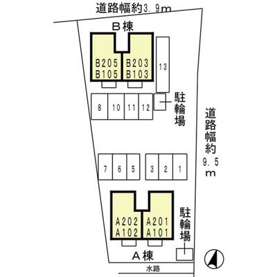 【区画図】リプルス浜の宮Ⅱ B棟