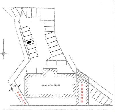 【区画図】オーシャンビュー江井が島駐車場