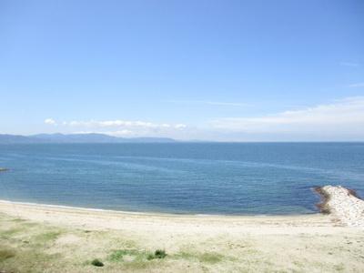 海が一望です。