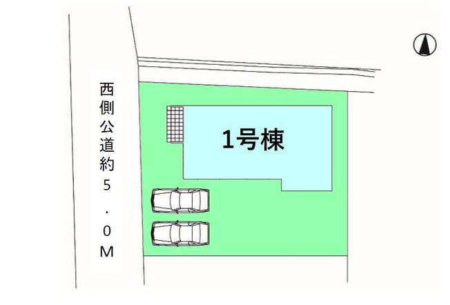 【区画図】現地写真掲載 新築 前橋市稲荷新田町KF1-1