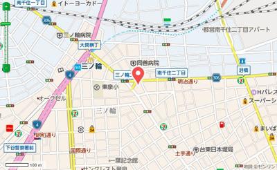 【地図】プレール・ドゥーク東京EAST Ⅲ