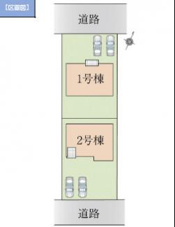 【区画図】高崎市下之城町13期 1号棟