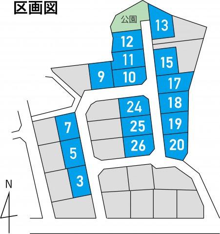 【区画図】糟屋郡宇美町宇美東 7号地