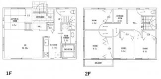 ジブンハウス仕様プラン例 建物面積115.09㎡ 建物価格1663万