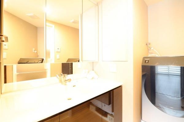収納満点な洗面所です