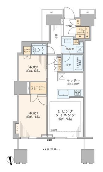 富久クロスコンフォートタワー:34階につき陽当り・眺望良好な2LDKエアコン付きリフォーム物件はフラット35s&住宅ローン控除利用可能です!