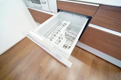 食器洗浄機付で大変便利です。