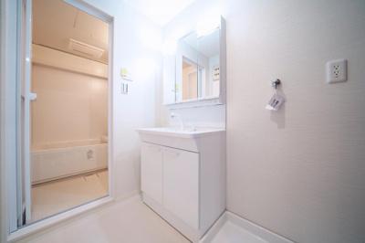 洗面化粧台・洗濯パン新規交換済みです。