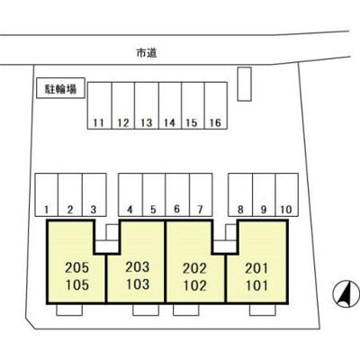 【区画図】イーストサンハイム