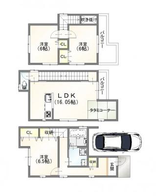 建物:1399万円/延床面積:88.96㎡