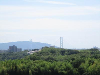 淡路海峡大橋も望めます。