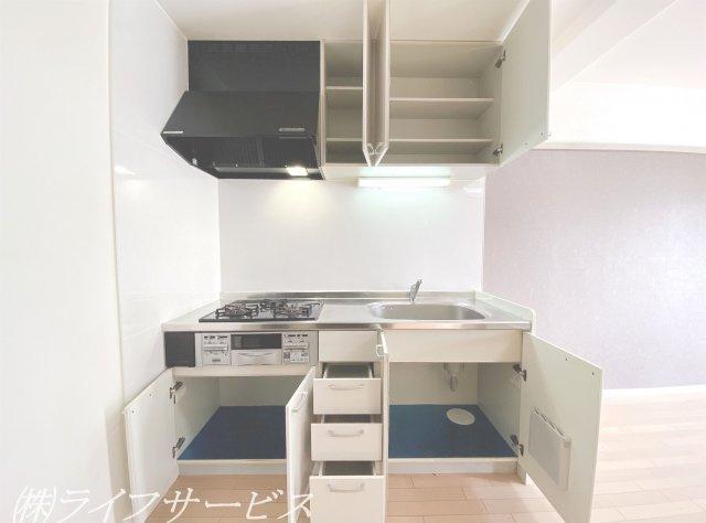 システムキッチン/収納豊富です