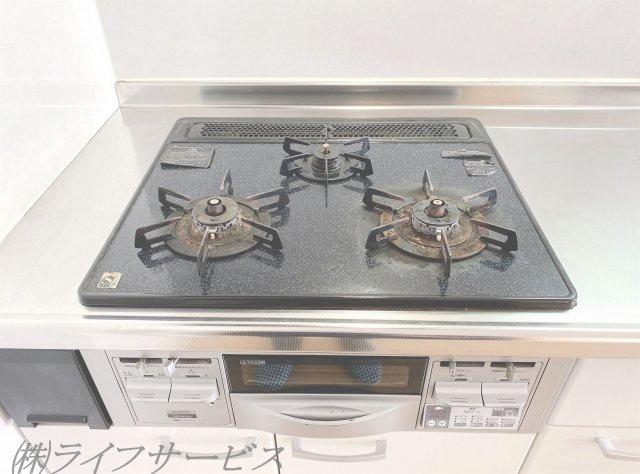 システムキッチン/3口ガスコンロ