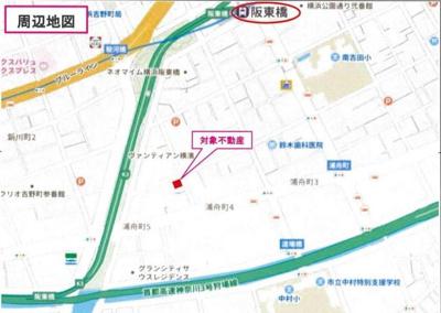 【地図】南区白妙町 商業地域 一棟ビル