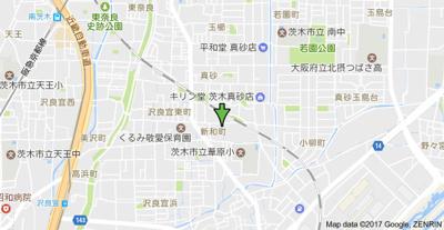 【地図】第3グリーンハイツ