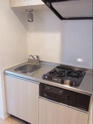 2口ガスコンロ付きキッチンです