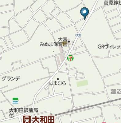【地図】エバースタイル大和田(エバースタイルオオワダ)