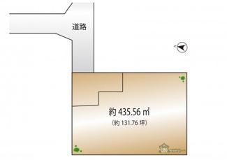 【土地図】世田谷区成城4丁目 建築条件なし土地