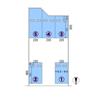 【区画図】定月駐車場 B