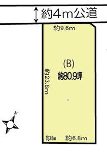 【土地図】鴻巣市登戸の土地 B区画