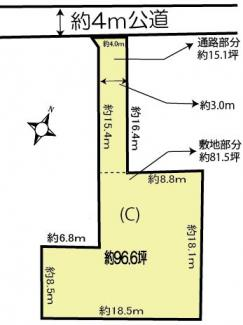 【土地図】鴻巣市登戸の土地 C区画