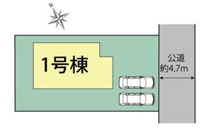 【区画図】三木市志染町西自由が丘 新築
