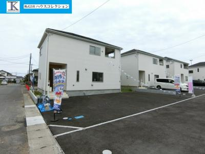 【前面道路含む現地写真】鹿嶋市港ケ丘第1 新築戸建 全5棟