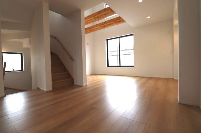 【居間・リビング】世田谷区中町3丁目新築戸建て