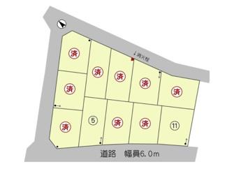 【土地図】守山市服部町【全11区画】11号地 売土地
