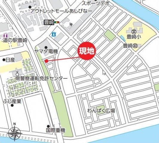 【地図】豊見城市豊崎 新築戸建住宅