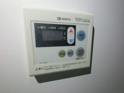 給湯器のスイッチパネルです。