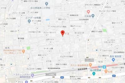 【地図】アンバサダーパレス練馬桜台