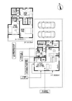 3号棟。敷地面積 157.93㎡ 建物延面積 102.67㎡ 価格 2390万円