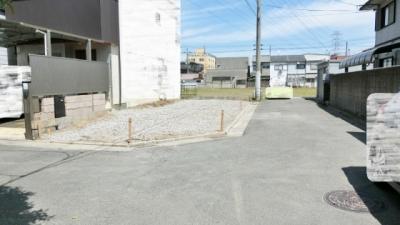 【前面道路含む現地写真】八尾市福万寺町南2丁目 売土地