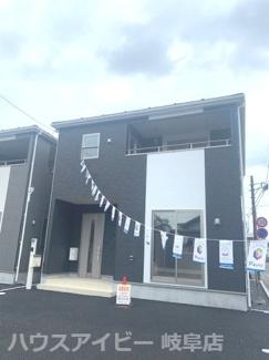 岐阜市粟野東 新築建売全3棟 お車スペース並列3台可能!インナーバルコニーのあるお家 バス停徒歩3分!