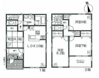 岐阜市粟野東 新築建売全3棟 お車スペース並列3台可能!インナーバルコニーのあるお家 バス停徒歩3分