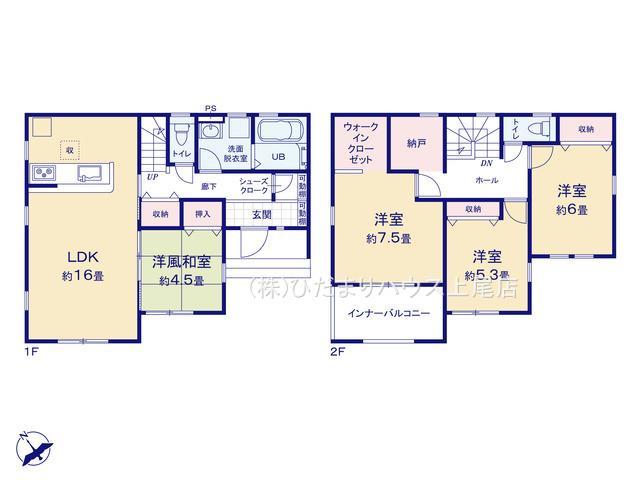 鴻巣市神明 第3 新築一戸建て リーブルガーデン 01