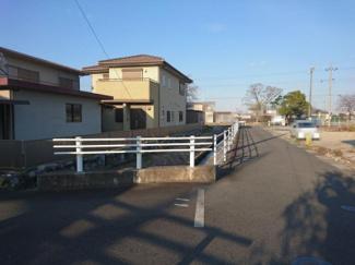 【前面道路含む現地写真】守山市川田町 売土地