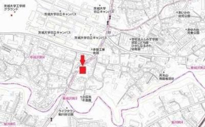 【地図】東成沢町3丁目 売地
