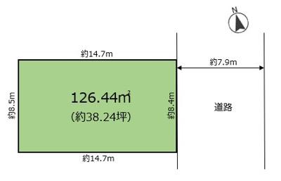 【区画図】鳴尾町2丁目 中古戸建