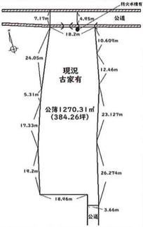 【土地図】比企郡川島町中山 建築条件なし売地 東武東上線『若葉駅』バス14分 【中山小学区】