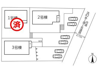 【区画図】リーブルガーデン宗像市武丸(3号棟)